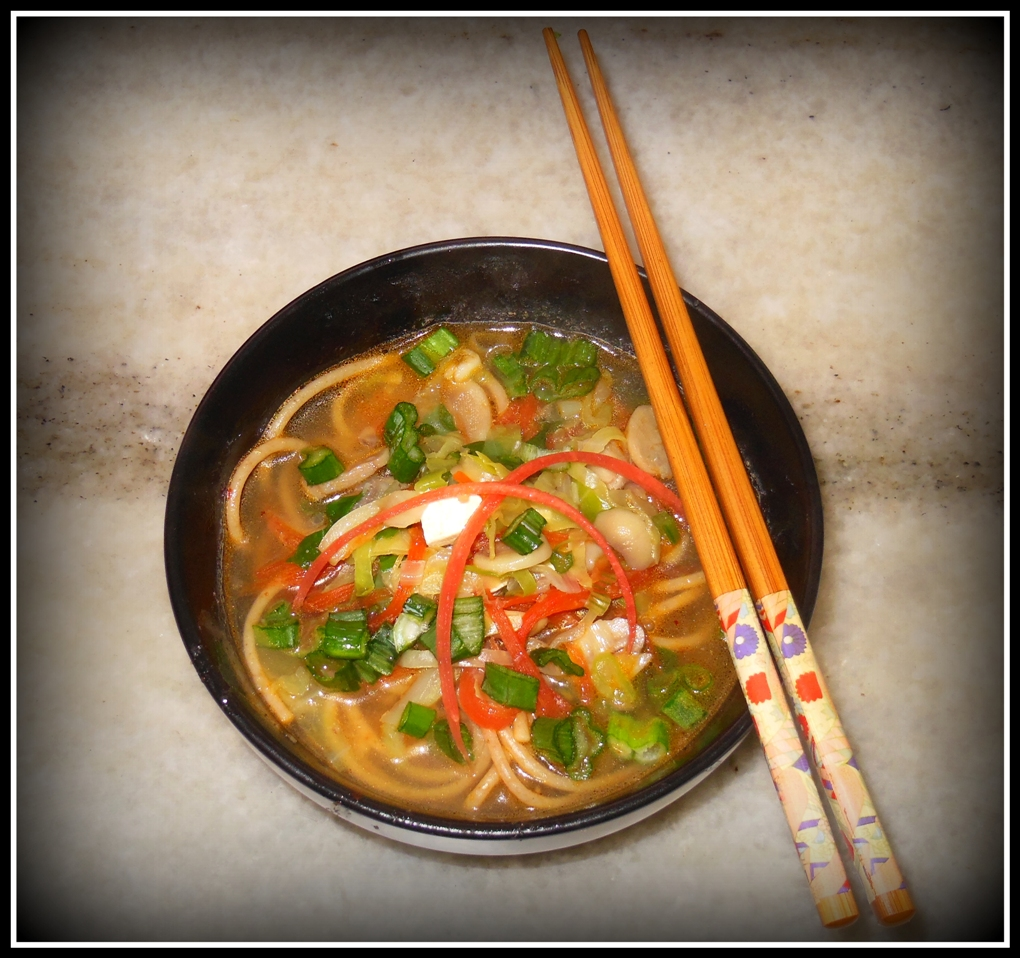CHILI GARLIC VEGETABLE NOODLE SOUP