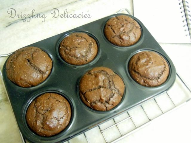 eggless chocolate hazelnut muffins
