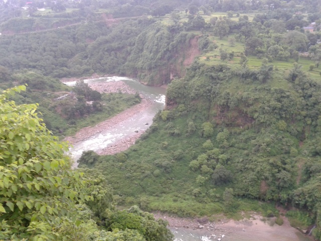 View down from kangra fort