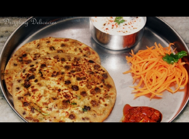 Black Chickpea (kala chana) Paranthas