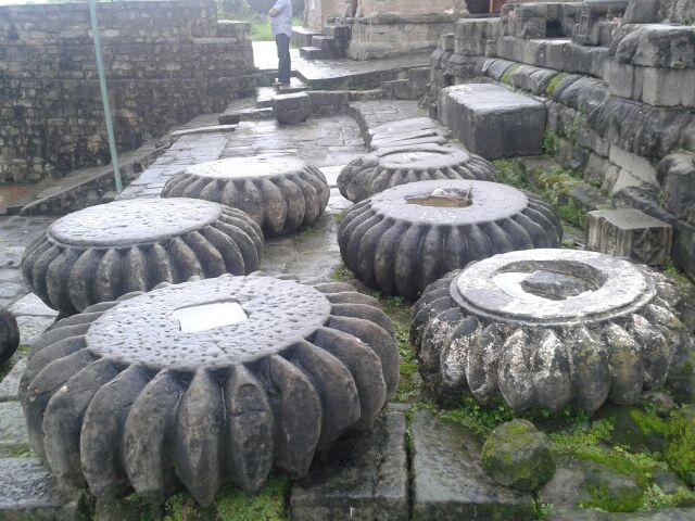 Remains of pillars