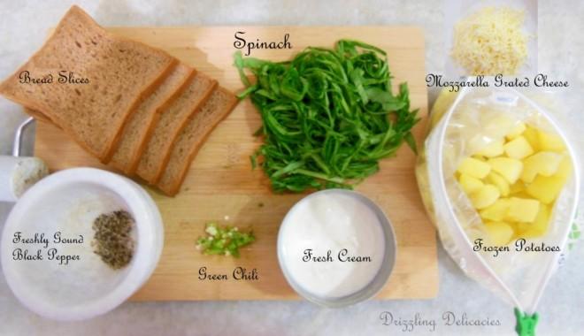 potato spinach sandwich ingredients