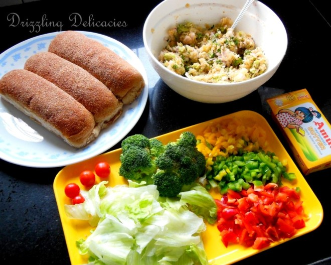 vegetable long rolls ingredients