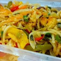 Vegetable Hakka Noodles in Chili Lemon Sauce