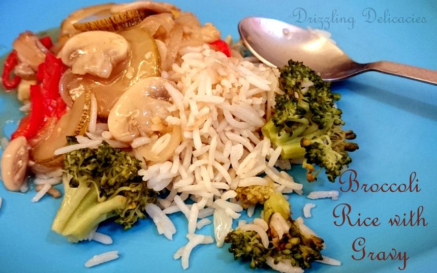 brocolli rice with chinese gravy