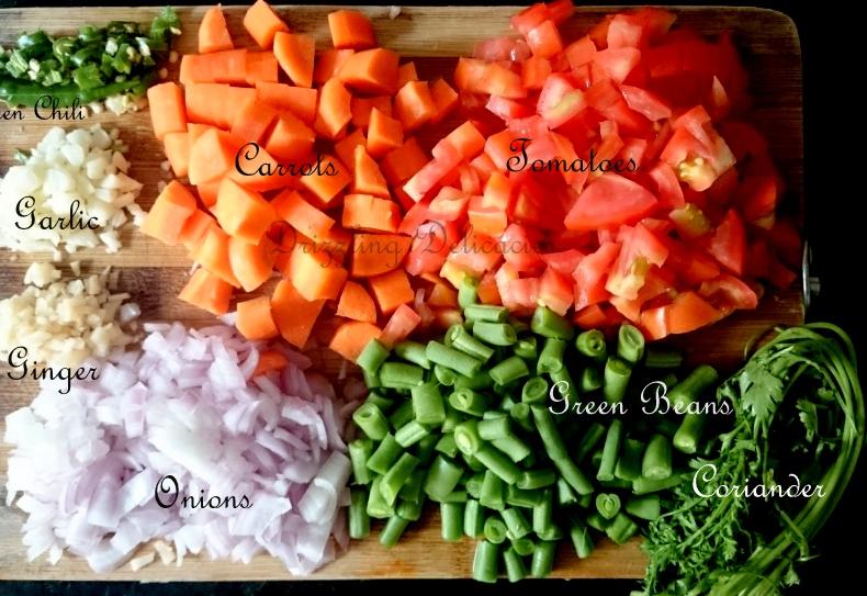 Fresh Veggies for Biryani