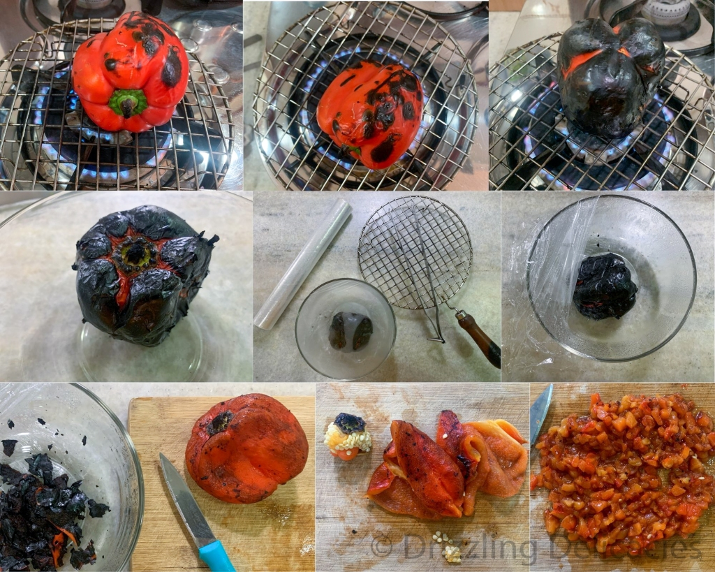 how to roast bell pepper easy steps