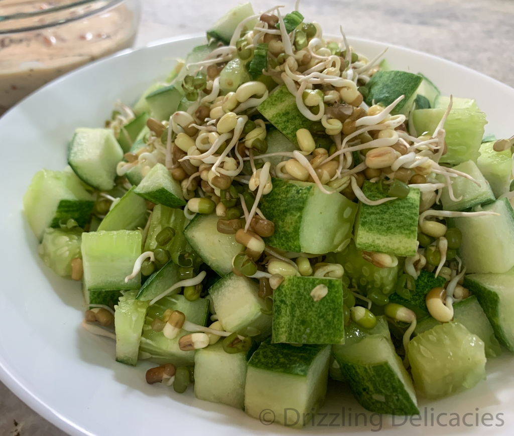 cucumber and sprouts salad