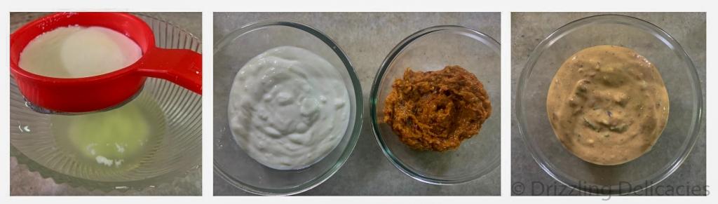 chili garlic hung curd dip