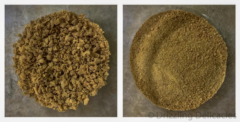 soya granules fine powder