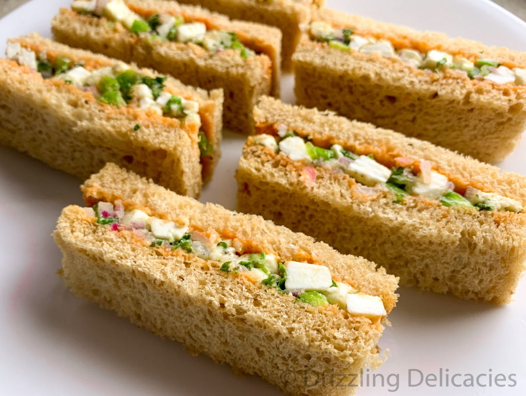 veg cold sandwich tea time sandwich
