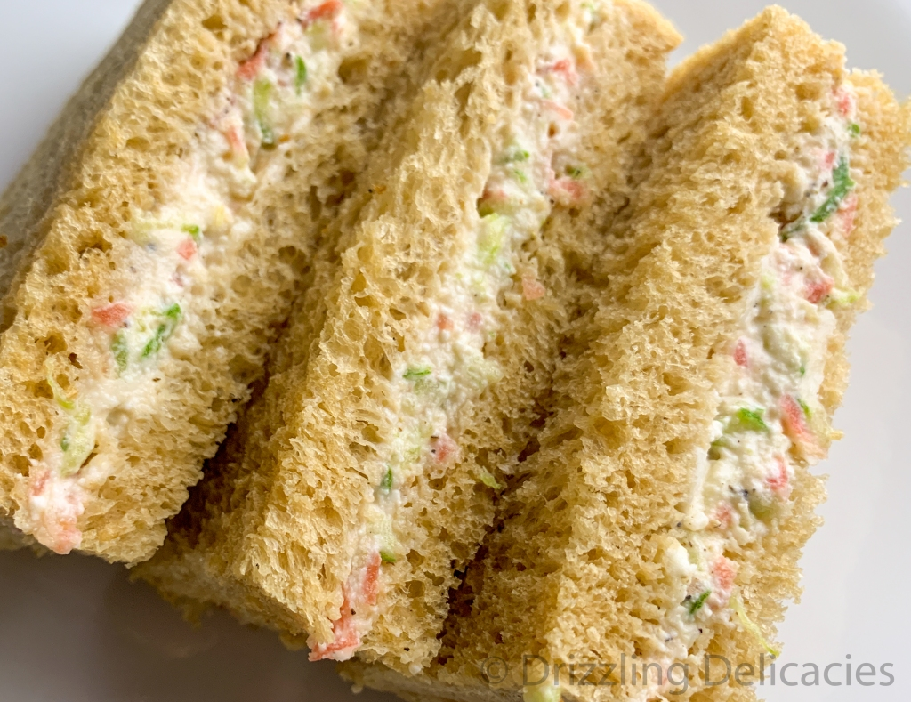 cream cheese tea sandwiches