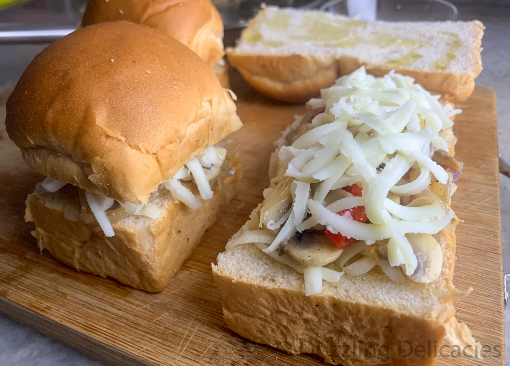 making mushroom sliders
