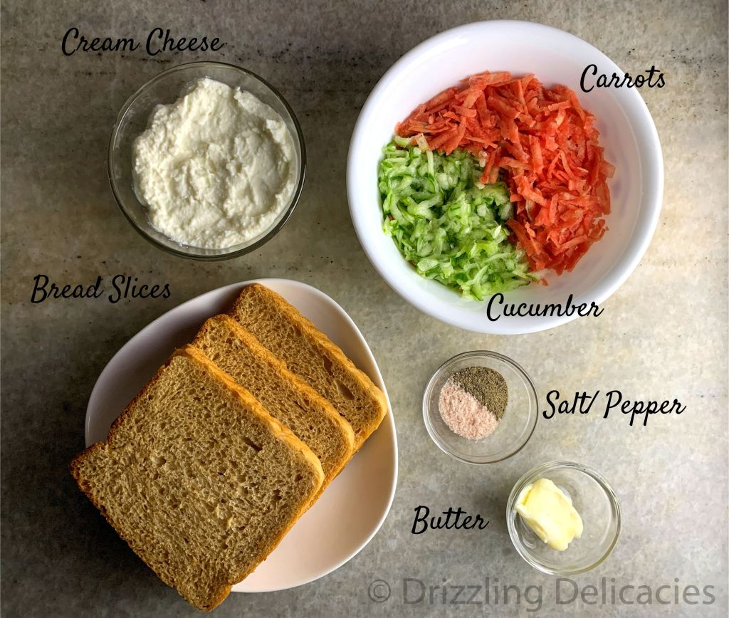 cream cheese tea sandwich ingredients
