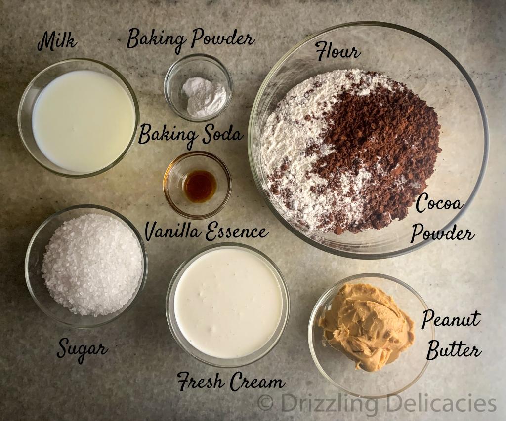 chocolate peanut butter muffins ingredients