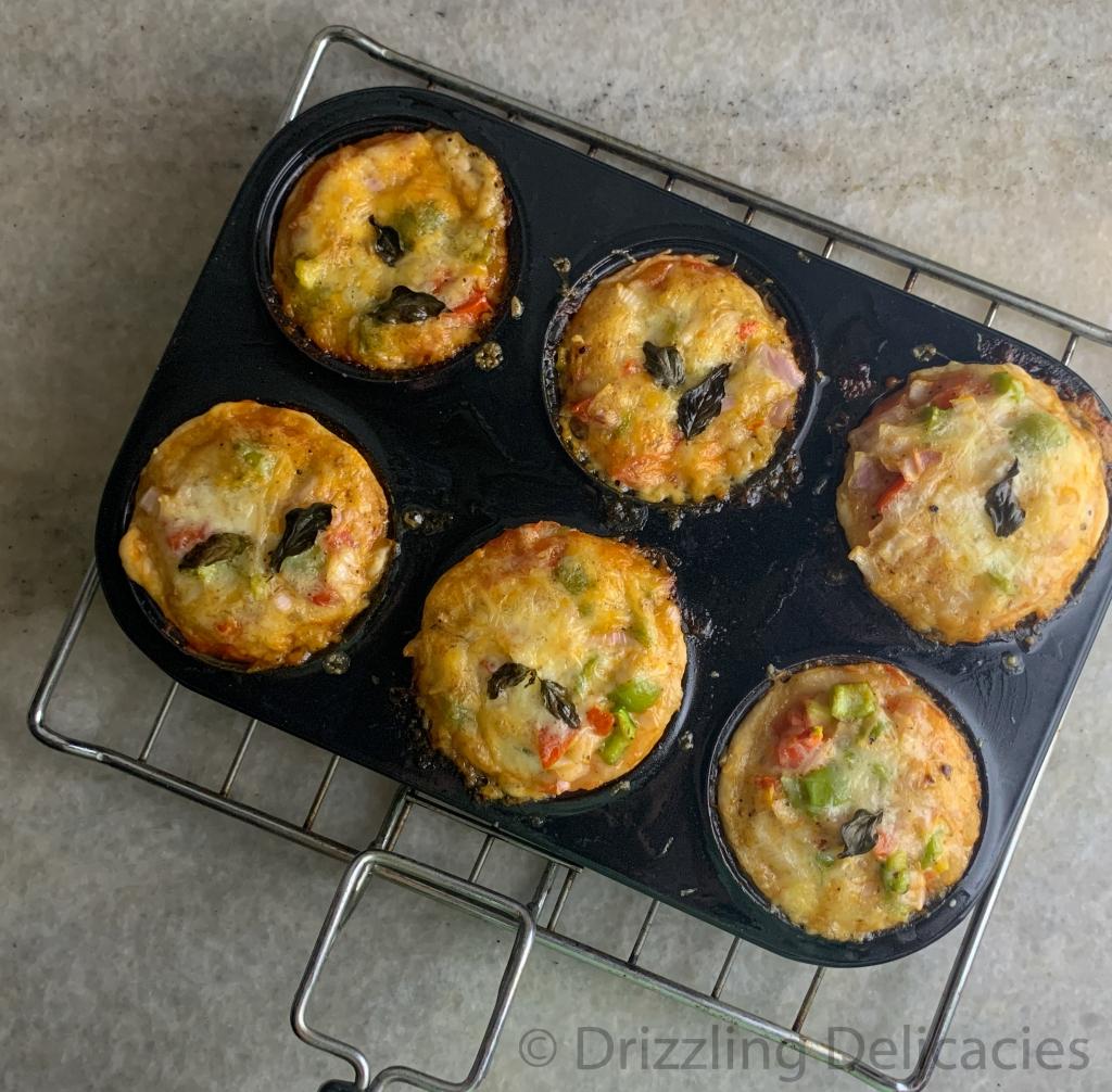 vegetarian pizza muffins